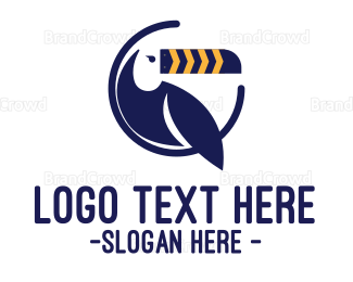 Endangered - Blue Toucan logo design