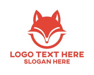 Fox - Red Fox Badge logo design