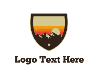 Emblem - Sunset Landscape  logo design
