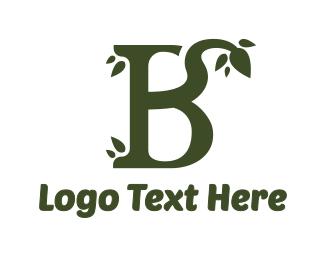 Salad Bar - Green Leafy B logo design