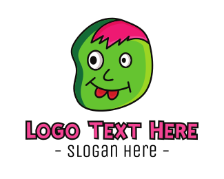 Draw - Pink Hair Zombie logo design