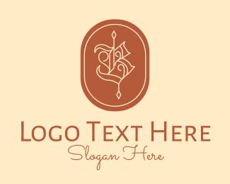 Typography - Detailed Arrow Letter B logo design