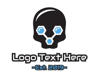 Skull - Data Skull logo design