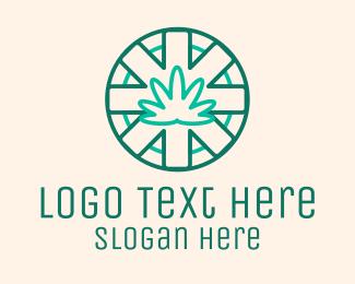 Medical - Medicinal Cannabis Leaf logo design