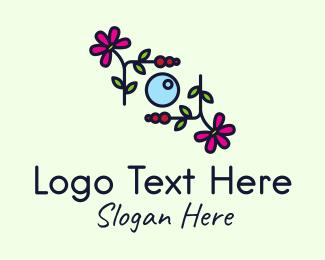 Wedding Photography  - Multicolor Floral Camera logo design