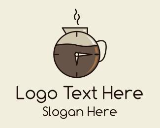 Carafe - Coffee Carafe Time logo design