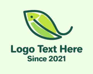Wet Market - Fish Nature Leaf logo design