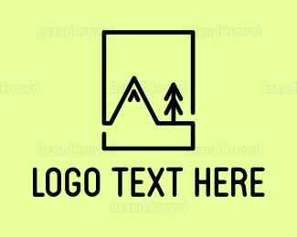 Everest - Mountain Minimalist logo design