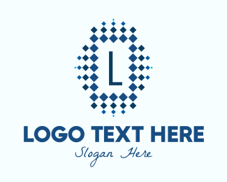 Precious Stones - Diamond Pattern Lettermark logo design