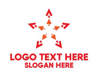 Five Star - Spear Star logo design