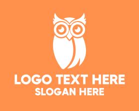 Geek - White Owl logo design