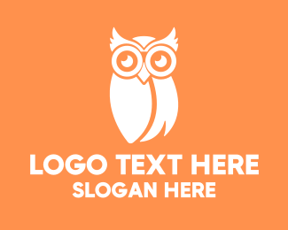 Icon - White Owl logo design