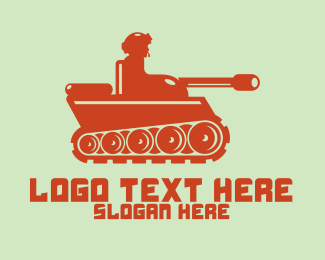 Cannon - Army Tank logo design