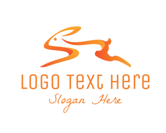 Bunny - Orange Bunny logo design