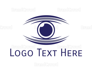 Evil Eye - Abstract Blue Optical  logo design