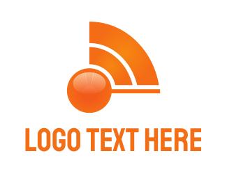 Tune - Orange Wave logo design