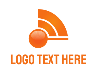 Internet Web Orange Wave logo design
