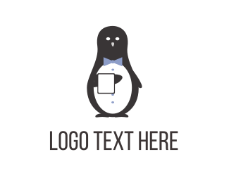 Host - Tuxedo Penguin logo design