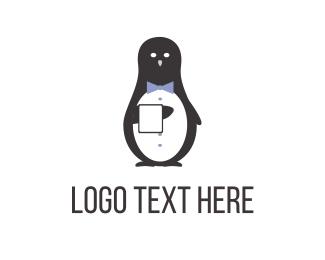 Antarctica - Tuxedo Penguin logo design