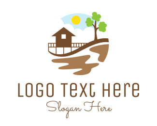 House - Beach House Resort logo design