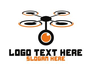Lens - Camera Lens Drone logo design