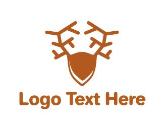 Hunter - Brown Elk logo design