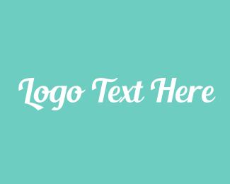 Stylish - Aqua Fresh Text logo design