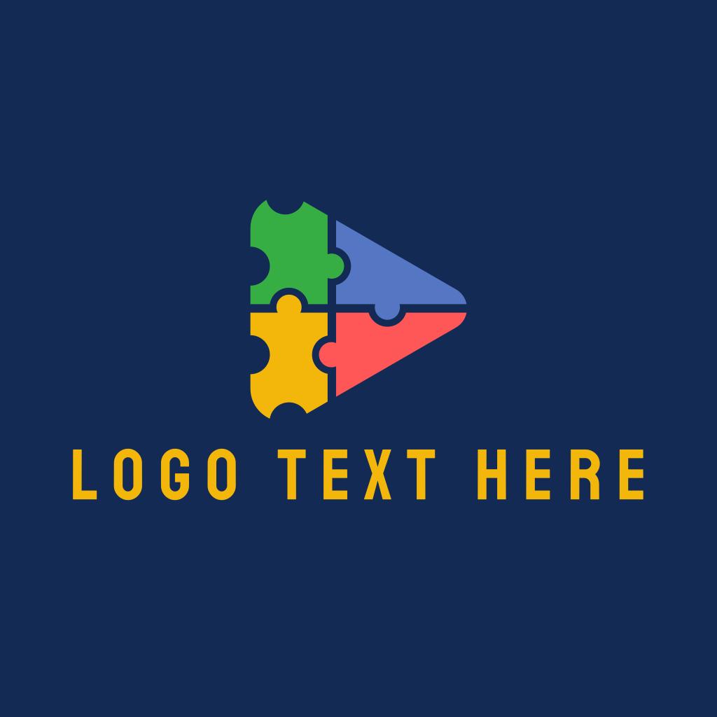Triangular Jigsaw Puzzle Logo