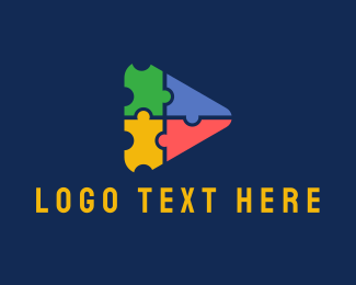 Nursery - Triangular Jigsaw Puzzle logo design