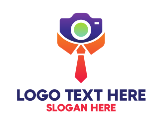 Neck Tie - Collar Tie Photographer logo design