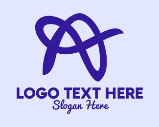 Fashion Accessories - Violet Cursive Letter A  logo design