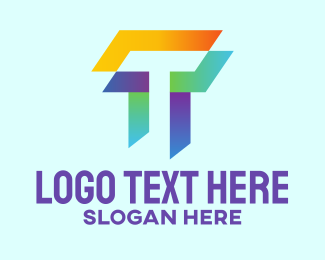 Creative Agency - Colorful Letter T Company  logo design