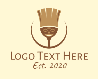 Indigenous - Brown Native Broom logo design