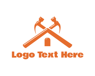 Construction Company - Hammer Roof logo design