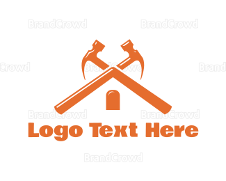 Carpenter - Hammer Roof logo design
