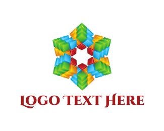 Psychedelic - Kaleidoscope Star logo design