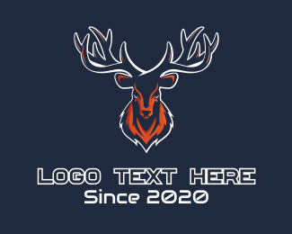 Playoffs - Deer Mascot logo design