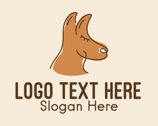 Woodland - Brown Australian Kangaroo logo design