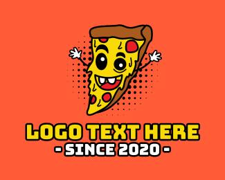 Hungry - Happy Pizza logo design