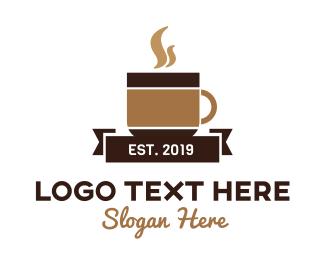 Mug - Brown Coffee Mug logo design