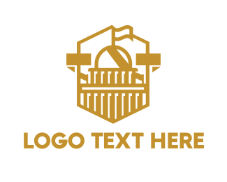 Us - US Gold Capitol logo design
