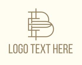 Company - Interior Design Letter B logo design