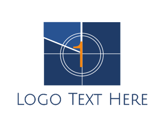 Countdown - Television 1 logo design