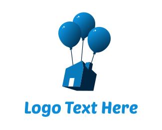 Gamble - House Balloon logo design