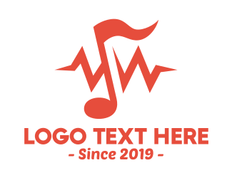 Note - Music Note Frequency logo design