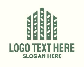 Real Estate - Fence Greenhouse logo design