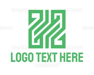 Double - Green Double Z logo design