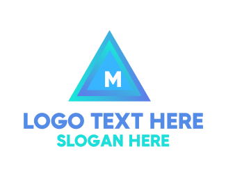 """Blue Triangular Lettermark"" by BrandCrowd"