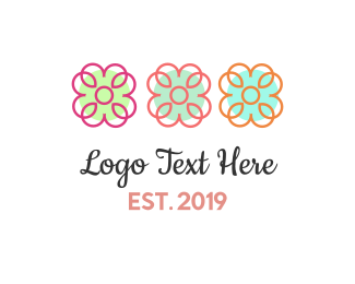 Boho - Three Flowers logo design