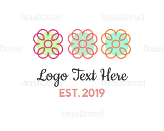 Gardening - Three Flowers logo design